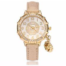 Yellow Gold Flower Watch Luxury Stones Charm Present GOLD Gift UK Warranty