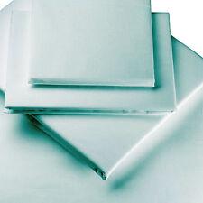 Duck Egg Blue Cotton Blend Riva Paoletti Flat Single Bed Sheet