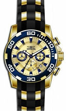 Gold Plated Case Men's Round Wristwatches with 12-Hour Dial