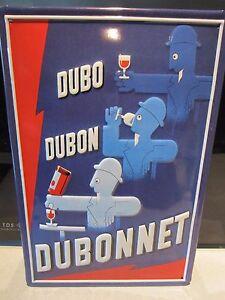 "DUBONNET, FRENCH APERITIF , EMBOSSED(3D)  VINTAGE-STYLE SIGN, 12""x 8"", 30x20cm,"