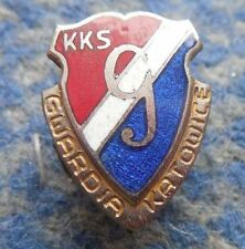GWARDIA KATOWICE POLAND FOOTBALL FUSSBALL SPEEDWAY JUDO 1950's RARE SCREW PIN