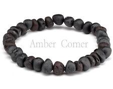 New Genuine Baltic Amber Raw Stretch Bracelet Adult Unisex Cherry RABB159