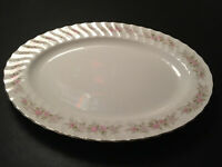 "Dansico Teahouse Rose Vintage Fine China 14"" Oval Serving Platter Japan MINT"