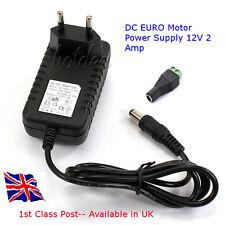 Fuente de alimentación 12v DC MOTOR-Euro Plug-Fuente de hasta 2 amperios a 12 Voltios en el Reino Unido