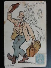 France: Comic Postcard: 'La Classe' - E.R.Paris c1904