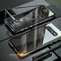 Hülle Magnet Samsung Galaxy S10+ Schutzhülle Glas Handy Tasche Panzer Case Cover