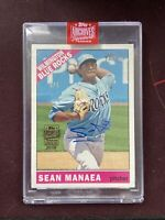 2019 Topps Archives Signature Series Sean Manaea Auto 1/1 Rookie RC SSP Oakland