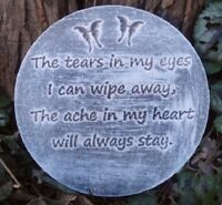 Memorial plaque plastic mold The tears garden ornament  plaque / stepping stone