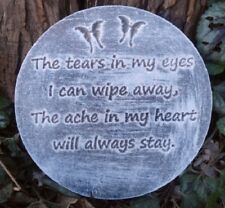 Plastic memorial plaque mold The tears garden ornament  plaque / stepping stone