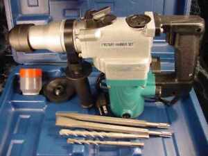 """1"""" SDS ROTARY HAMMER DRILL KIT 3in1 with CASE BITS & CHISELS Tool Electric jack"""