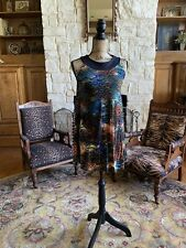 Gail McInnis Productions Colorful Sequin Dance Dress Small See Photos For Size