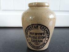 Early 20th Century Hailwood's Cream Pot Manchester England Vintage Advertising