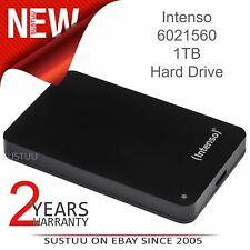 "Intenso 2.5"" External Hard Disk Drive│1TB Memory Case│USB 3.0│For PC & Mac│Black"
