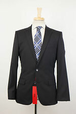 New. HUGO BOSS RED LABEL 'Amaro/Heise' Black Wool 2 Button Suit Size 46/36R $795
