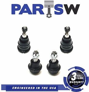 4 Pc Suspension Kit Upper Lower Ball Joints For Cadillac Chevrolet GMC Trucks
