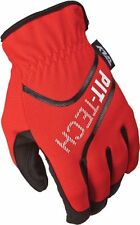 New Fly Pit Tech Size 10 gloves Large dual sport MX Offroad ATV gloves   red