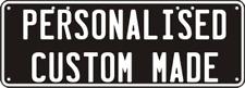 Custom 2 Line Embossed Design  Your Own Standard Novelty Number Plate