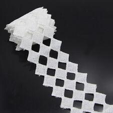 2 Yard Weiß Spitzenborte Polyester Borte Quadrat Spitzenborte Verzieren Aufnäher