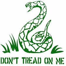 """Don't tread on me,10""""x8"""",Gadsden,2A,Molon Labe,patriotfitgear.com,Vinyl Decals"""