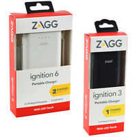 Genuine ZAGG Ignition Rapid 2.1Amp Powerbank Charger For Smartphones & Devices