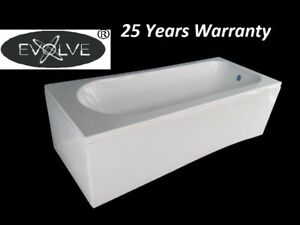 1700x700 Single Ended Straight Modern Bath Tub White Acrylic with Legs NO PANEL