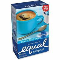Equal MRINUT810931 Sugar Substitute Artificial Sweetener, 100 Packets/Box