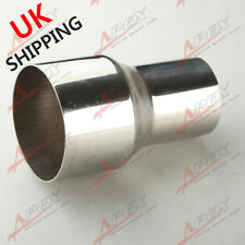 """2.25"""" TO 3"""" WELDABLE TURBO/EXHAUST STAINLESS STEEL REDUCER ADAPTER PIPE UK"""