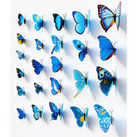 12 Pcs Schmetterling Aufkleber Wandaufkleber·3D Art Design Decor Neu Kit