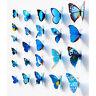 12 Pcs Schmetterling Aufkleber Wandaufkleber·3D Art Design Decor Neu Kit