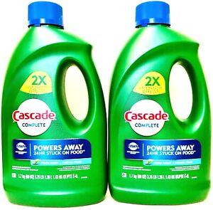 2 Cascade Complete 60oz Dawn Grease Fight Power Fresh Scent Dishwasher Detergent