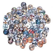 50PCS/Lot Cross Charms Snap Jewelry Wholesale 18mm DIY Glass Button Bracelet