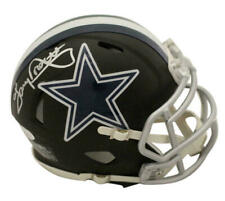 Tony Dorsett Autographed/Signed Dallas Cowboys Black Mini Helmet JSA 22787
