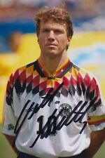 LOTHAR MATTHAUS HAND SIGNED 6X4 PHOTO - FOOTBALL AUTOGRAPH - GERMANY.