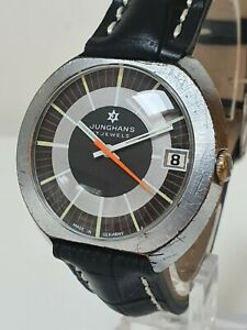 Vintage JUNGHANS 17 Jewel Manual Wind Watch - Unusual Design - Spares/Repair