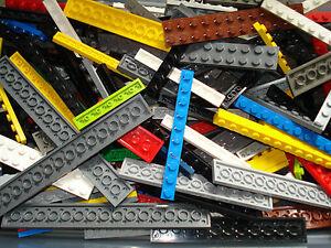 Lego x50 Studded Base Plates/Strips Bricks Mixed Colours/Sizes!