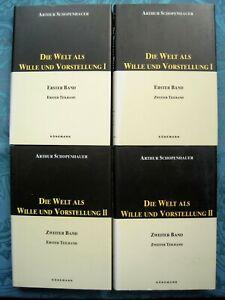 Arthur Schopenhauer Die Welt als Wille und Vorstellung 4in2 Komplett PHILOSOPHIE