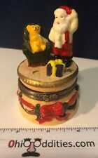 Santa Claus Present and Teddy Bear Trinket Box