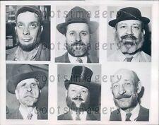 1946 Composite Men of Hutchinson Kansas Model Beard Styles Press Photo