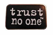 "The X Files TV Series ""Trust No One"" Logo Enamel Metal Pin"