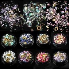 Diseño japonés 3D Caviar Beads Rhinestones Nail Art Crystal UV Gel Decoración
