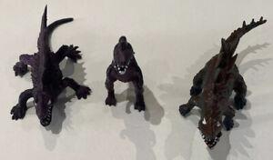 Vintage CHINASAURS- Hong Kong  Plastic Dinosaur X 3
