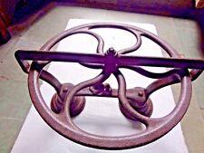 Antique Singer Sewing Machine part remanent redesigned Art moving Base Repurpose