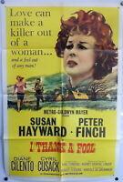 Susan Hayward 1962 Original 1 Sheet Movie Poster I Thank a Fool Peter Finch