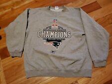 Men's Reebok NFL New England Patriots 2001 AFC Champions XL Crewneck Sweatshirt