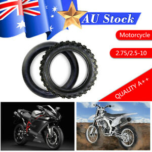 """2.50-10"""" Inch Front Tyre Tire + Tube PIT PRO Trail Dirt FOR PW50 Bike 2.5-10"""