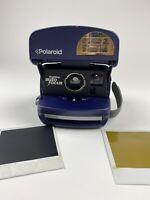 Polaroid 600 One Step AutoFocus Express Blue Instant Film Camera TESTED - READ
