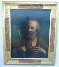 Painting Antique Oil on Canvas School Emiliana Saint Giuseppe Xvii Century Frame