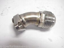 30° Stainless -12 AN to Oil Pump Fitting #1 NASCAR NHRA Earls Aeroquip Weiss