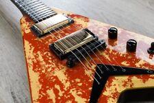 ESPECTACULAR guitarra DEAN USA DAVE MUSTAINE HOLY GRAIL tapa ORO 24KTMegadeth