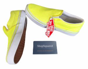Vans Classic Slip on (Neon Glitter) Yellow Size 7.5 Women's / 6 Youth NIB 🔥